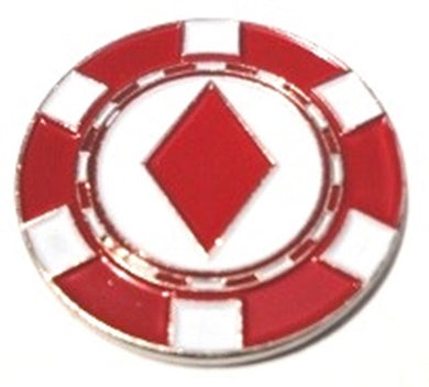 Poker Chip Diamonds Ball Marker main pic