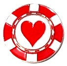 Poker Chip Hearts Ball Marker main pic
