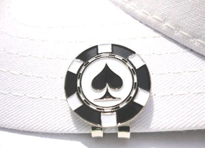 Poker Chip Spades Ball Marker hat brim pic 1