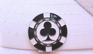 Poker Chip Clubs Ball Marker hat brim pic 2
