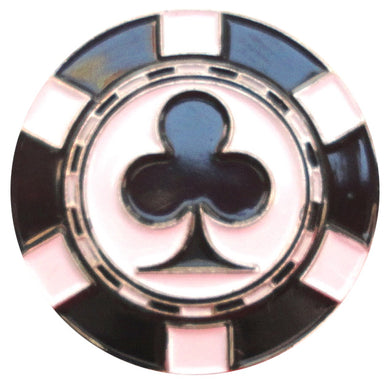 Poker Chip Clubs Ball Marker