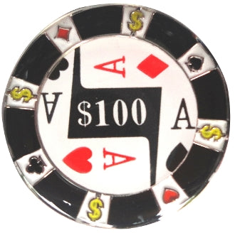 $100 Poker Chip Ball Marker main pic