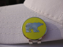 Polar Bear with Yellow Background Ball Marker hat brim pic 1