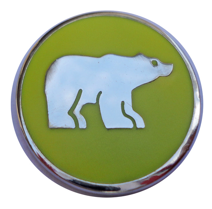 Polar Bear with Yellow Background Ball Marker main pic