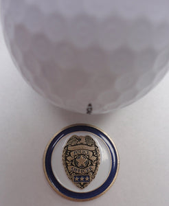 Fire & Police Department Double Sided Ball Marker golf ball pic
