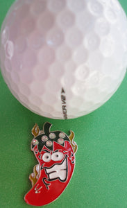 Hot Crazy Chili Pepper Ball Marker golf ball pic