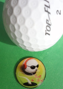 Roll the Rock Ball Marker golf ball pic 1