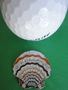 Sea Shell Ball Marker golf ball pic