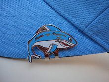 Blue & White Shark Ball Marker hat brim pic