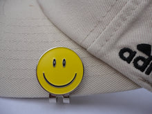 Smiley Face Yellow Ball Marker hat brim pic 1