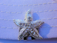 Starfish with Crystals and Heart Hat Clip