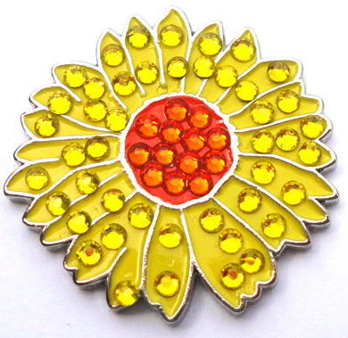 Sunflower w/Crystals Ball Marker