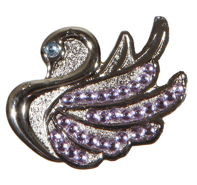 Swan with Violet Crystals Ball Marker product pic