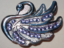Swan with Violet Crystals Ball Marker main pic