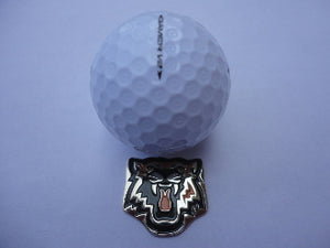 Tiger Orange Ball Marker golf ball comparison pic