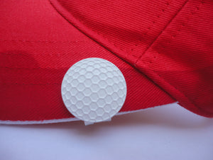 White Golf Ball Marker hat brim pic 1