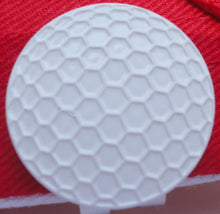 White Golf Ball Marker hat brim pic 2