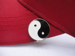 Black & White Yin Yang Ball Marker hat brim pic