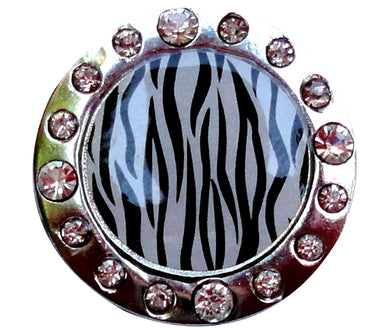 Zebra Stripes w/ Crystals Ball Marker product pic 2
