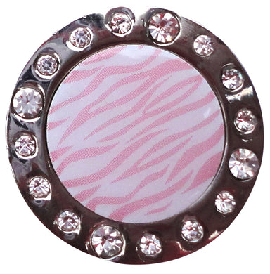 Pink Zebra Stripes W/ Crystals Ball Marker product pic 1