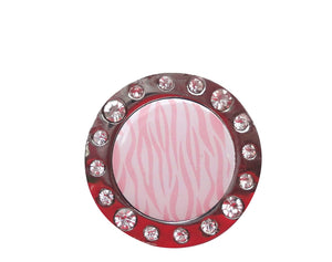 Pink Zebra Stripes W/ Crystals Ball Marker product pic 2