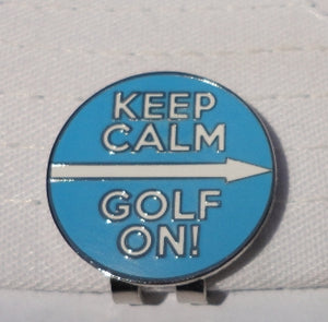 Keep Calm Golf On Marker hat brim pic 2