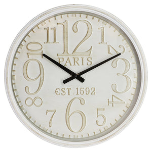 1592 PARIS IRON WALL CLOCK - Oak Furniture Store & Sofas