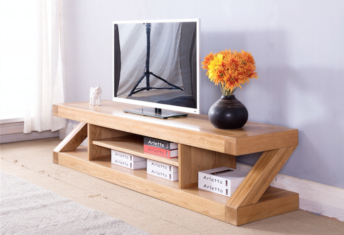 Zara Large Oak Large Entertainment Unit