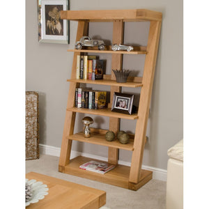 Zara Designer Oak Book Shelf - oak-furniture-store-sofa