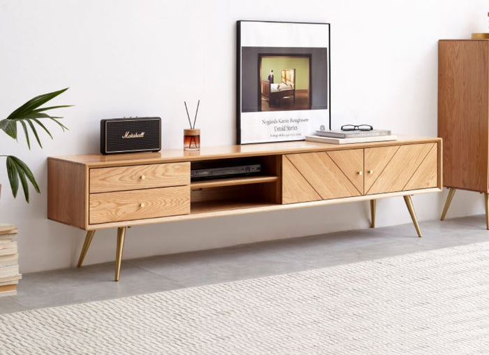 Parquet Solid Oak TV Unit