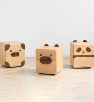 Urban Kidz Animal Oak Bedside Table