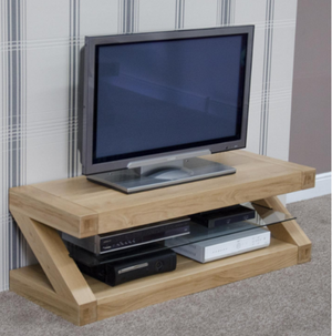 Zara Designer Oak Small TV Unit - oak-furniture-store-sofa