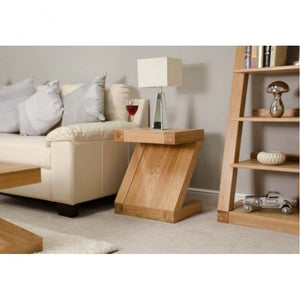 Zara Designer Oak Lamp Table - oak-furniture-store-sofa