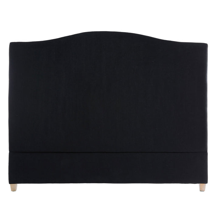 ANNABEL LINEN HEADBOARD IN BLACK - QUEEN