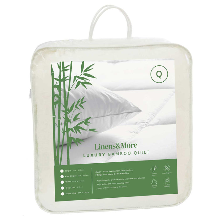 BAMBOO DUVET QUEEN WHITE