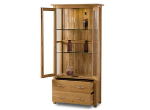 Cambridge Solid Oak Display Cabinet - Clearance - Oak Furniture Store & Sofas