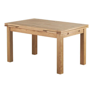Chamfer 140 Natural Oak Extending Dining Table - Oak Furniture Store & Sofas