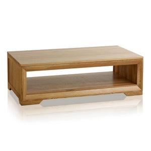Chamfer Natural Solid Oak Coffee Table - Oak Furniture Store & Sofas