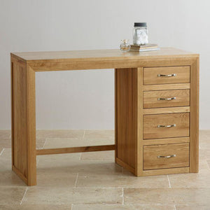 Chamfer Natural Solid Oak Dressing Table - Oak Furniture Store & Sofas