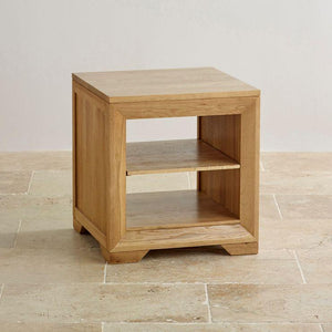 Chamfer Shelf Lamp Table - Oak Furniture Store & Sofas