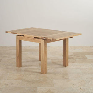 Chamfer Square Natural Solid Oak Extendable Dining Table - Oak Furniture Store & Sofas