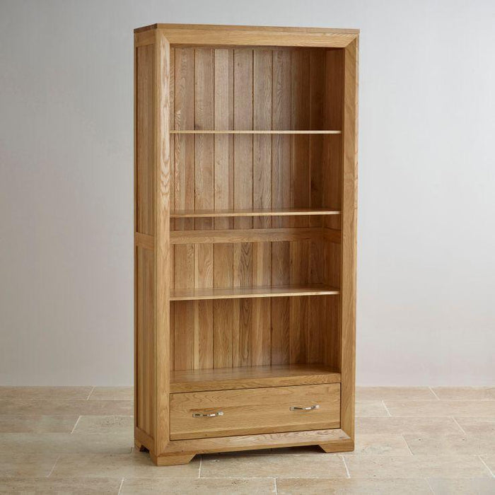 Chamfer Tall Bookcase with Drawers