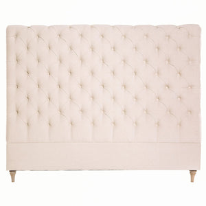 CHARLOTTE LINEN HEADBOARD IN NATURAL - QUEEN - Oak Furniture Store & Sofas