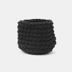 CROCHET BASKET LARGE - BLACK - Oak Furniture Store & Sofas