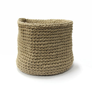 CROCHET BASKET LARGE - JUTE - Oak Furniture Store & Sofas