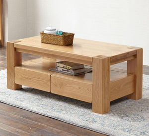 Cuba Solid Oak Large Coffee Table - Oak Furniture Store & Sofas