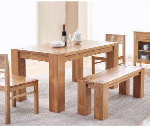 Cuba Solid Oak Large Dining Table - Oak Furniture Store & Sofas