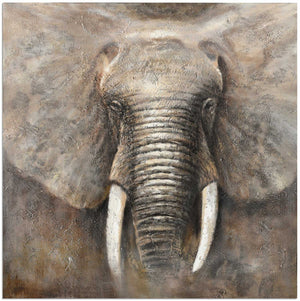 ELEPHANT POWER CANVAS ART - Oak Furniture Store & Sofas
