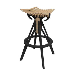 Fish Bone Designed 650cm Bar Stool - Clearance - Oak Furniture Store & Sofas