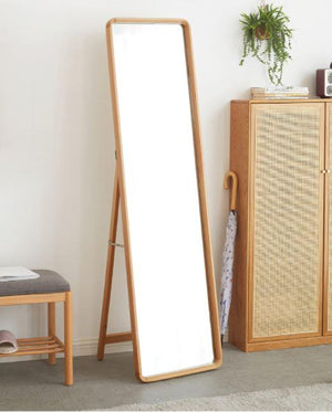 Free Standing Mirror With Solid Beech Frame - Oak Furniture Store & Sofas